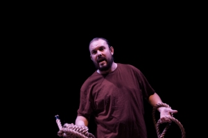 John Paul Connolly in 'What Will Judas Do?'. Photo Oliver Lamford