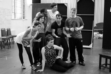 The cast of CommonWealth in rehearsals.