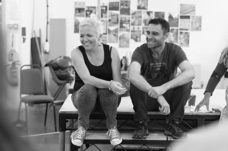 Melanie Ash and Rez Kempton in rehearsals for Little Revolution. Photo: Manuel Harlan