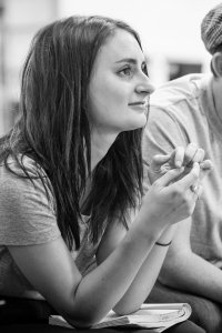 Laura Elsworthy in rehearsals for Our Town. Photo: Marc Brenner