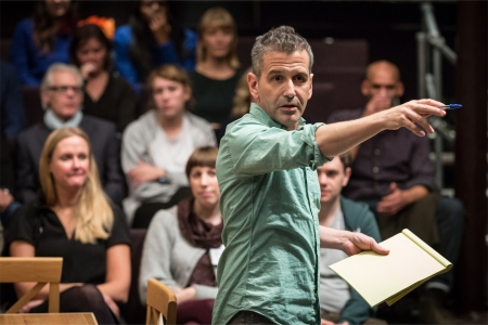 David Cromer (Stage Manager) in Our Town. Photo: Marc Brenner