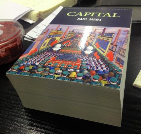 Volume 1 of Capital by Karl Marx. Photo: Rebecca Hill